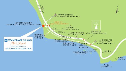Hainan Long Mu Bay Wyndham Grand Plaza Royale Hotel Map